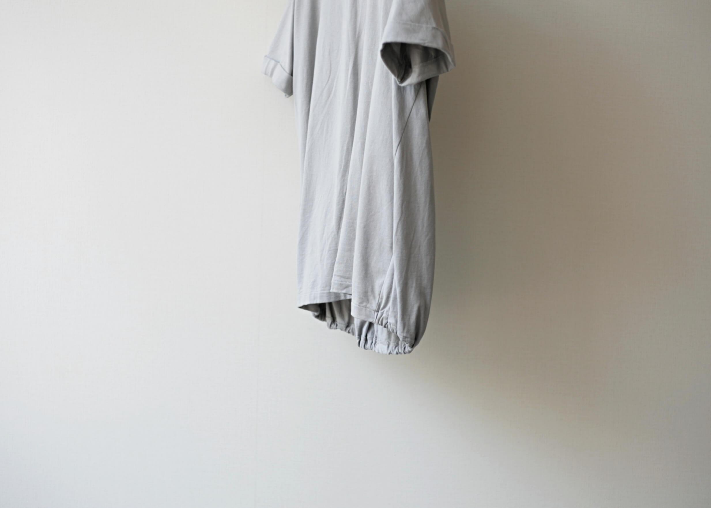 ドゥルカマラ バルーンT gray tシャツ下部分 横からのアップ