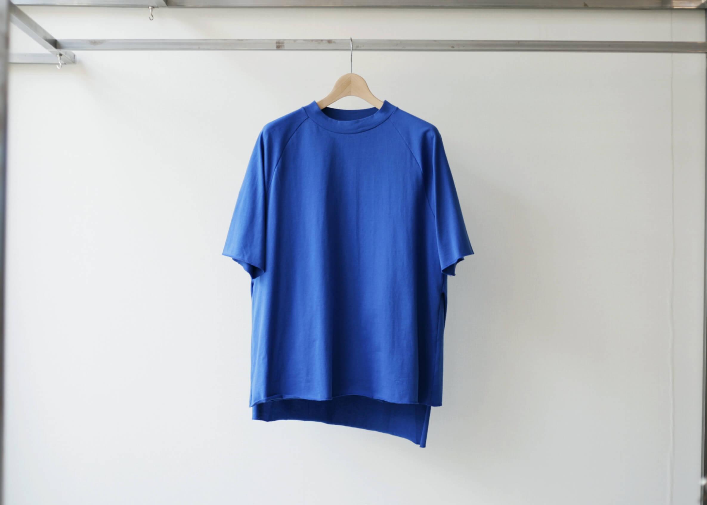 thee apron s/s blueの正面からの写真