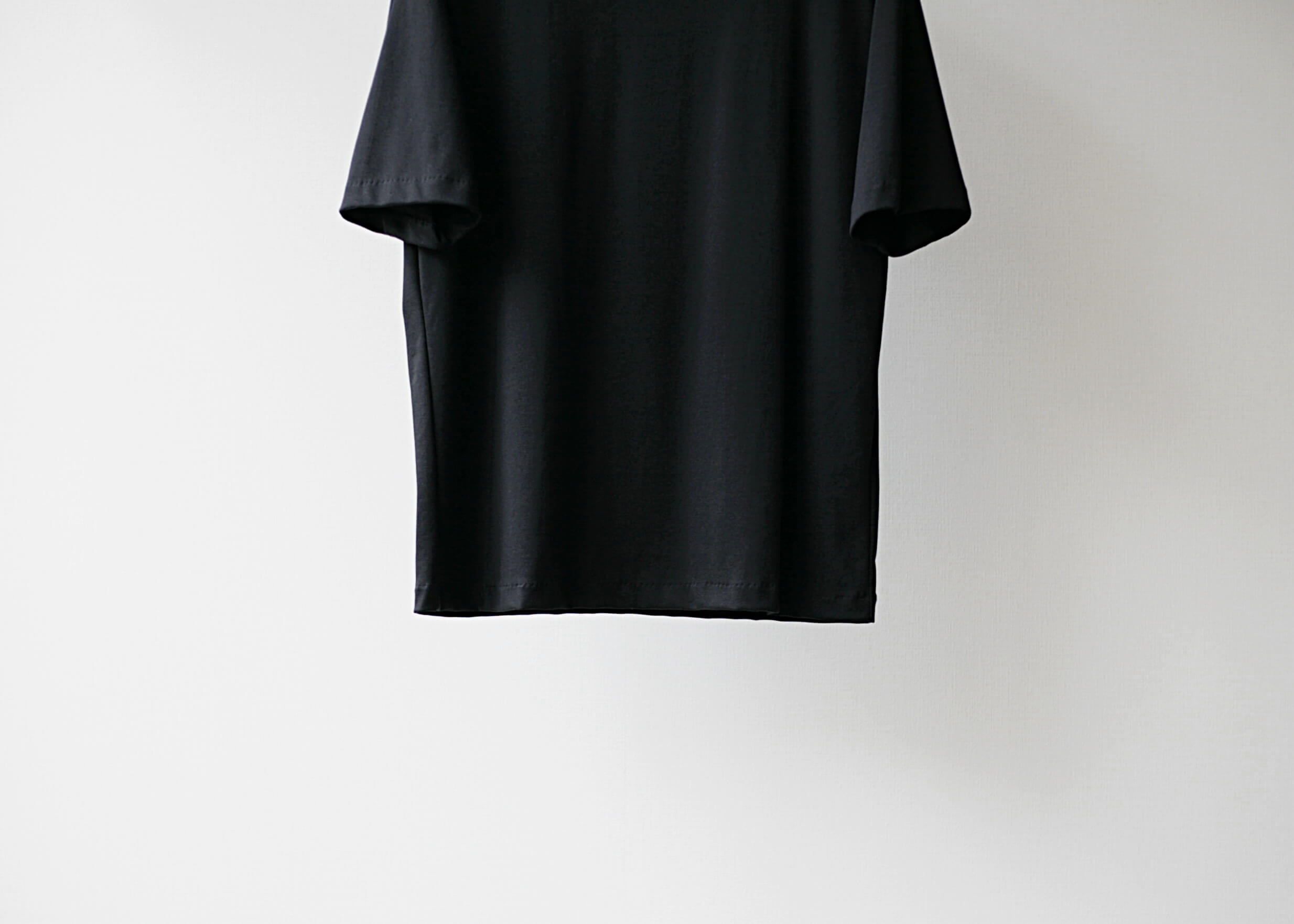 lamond suvin cotton s/s black 正面下半身アップ