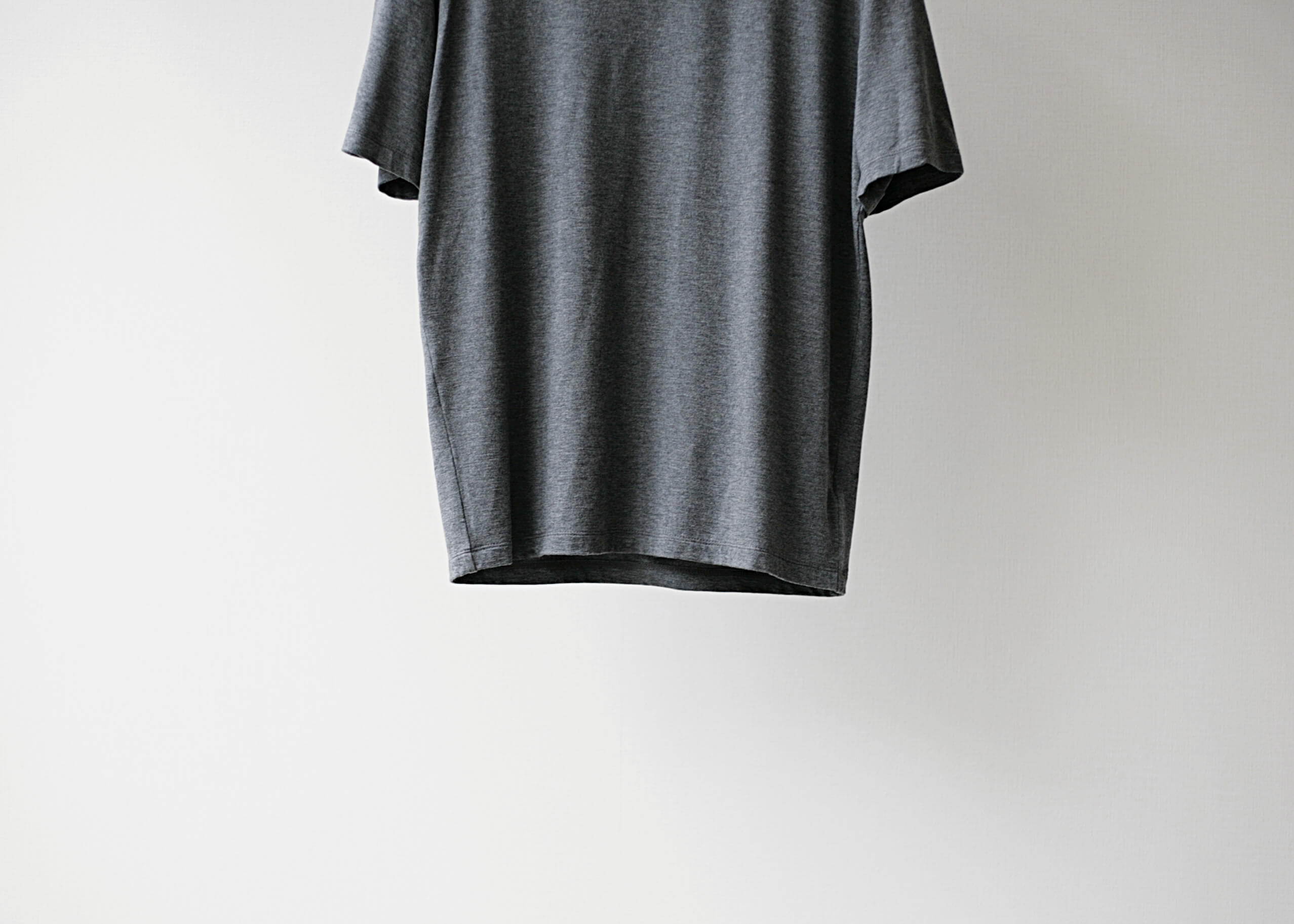 lamond tencel washable s/s gray 正面下半身アップ