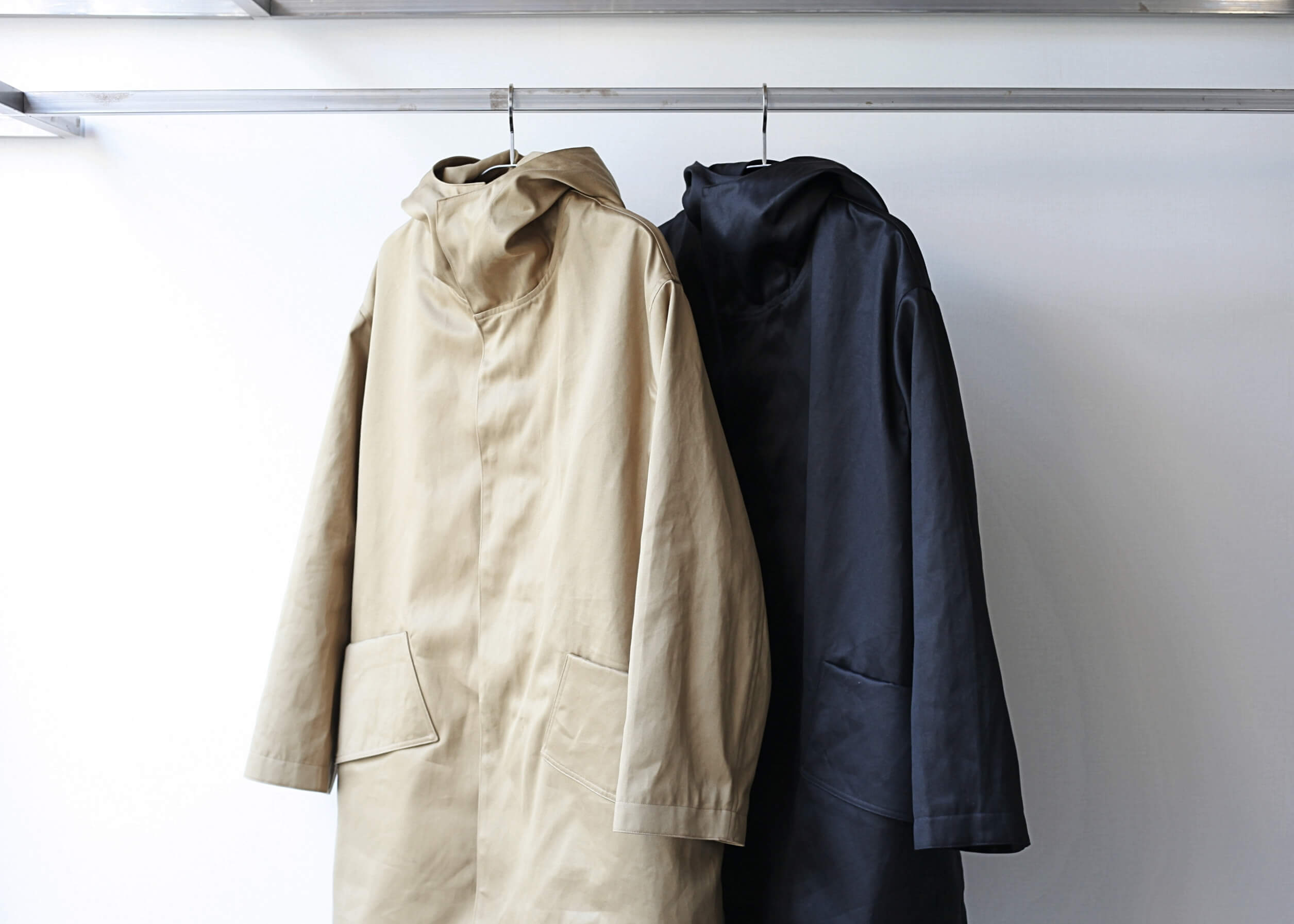soumo big pocket hood coat フード閉めた写真