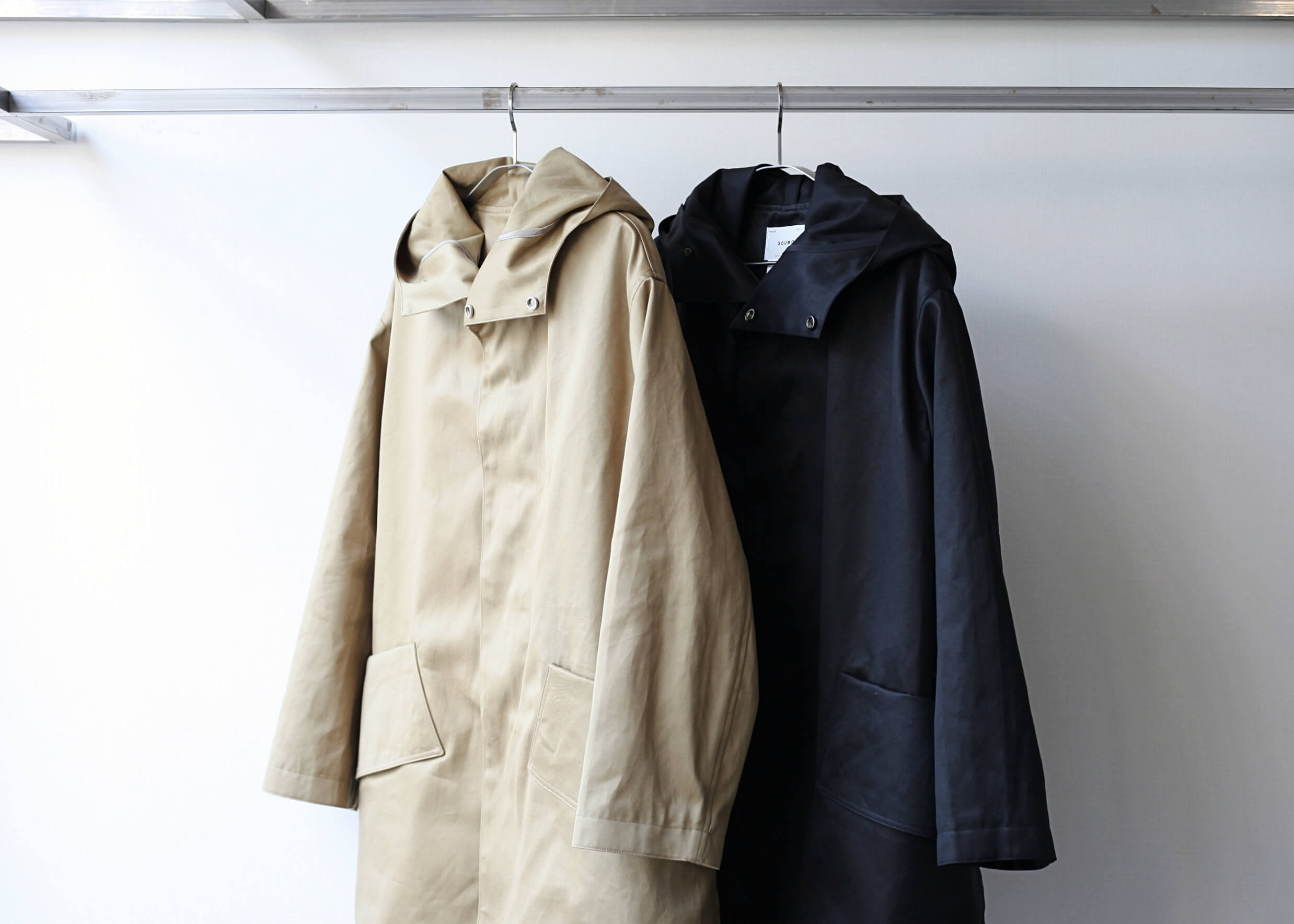 soumo big pocket hood coat フード開けた写真