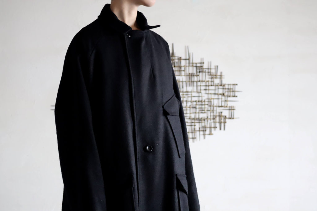 SOUMO W2MC COAT 'Black Navy Melton' の商品画像